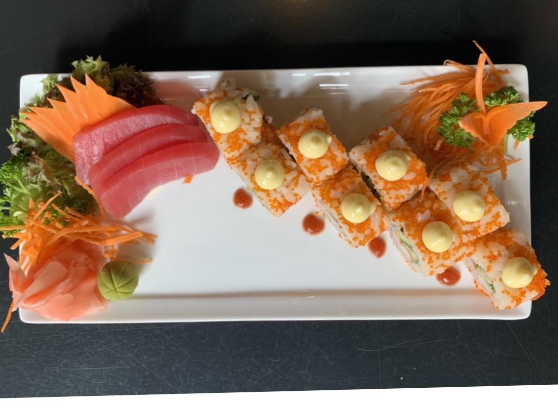 Maki Roll and Sashimi combo